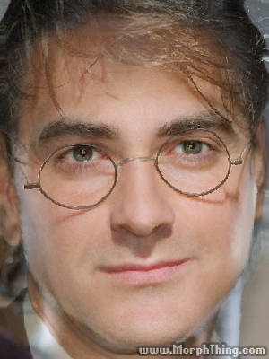 Harry Potter and George Clooney Morphed Together -