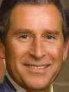Prince Charles's Face Combined with George Bush -