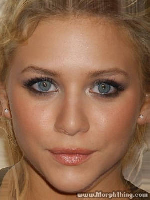 The faces of Ashley Olsen and Brittany Snow combined together -