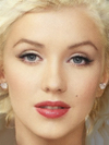 Marilyn Monroe and Christina Aguilera Faces Combined Together -