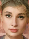 Allison Mack and Audrey Hepburn