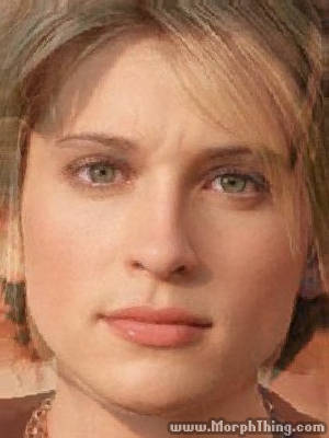 Allison Mack and Tom Welling Faces Combined Together -