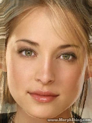 The faces of Allison Mack and Kristin Kreuk combined together -