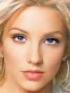 The faces of Britney Spears and Christina Aguilera combined together -