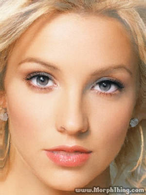 Britney Spears's Face Combined with Christina Aguilera -
