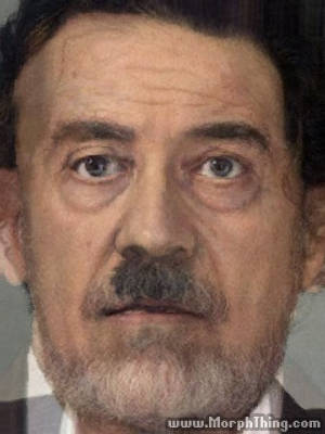 Adolf Hitler and Saddam Hussein -