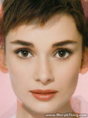 Winona Ryder and Audrey Hepburn Faces Combined Together -