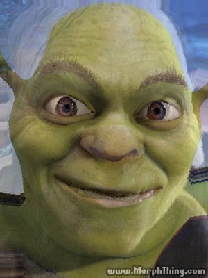 Shrek's Face Combined with Gollum -