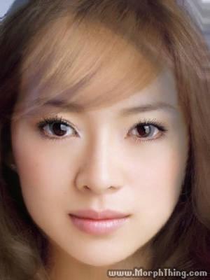 Ayumi Hamasaki's Face Combined with Zhang Ziyi -