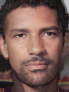 Antonio Banderes and Denzel Washington Faces Combined Together -