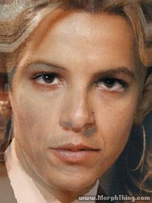The faces of Barack Obama and Britney Spears combined together -