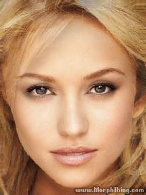 The faces of Hayden Panettiere and Jessica Alba combined together -