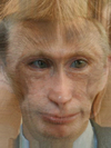 Vladimir Putin's Face Combined with Monkey -